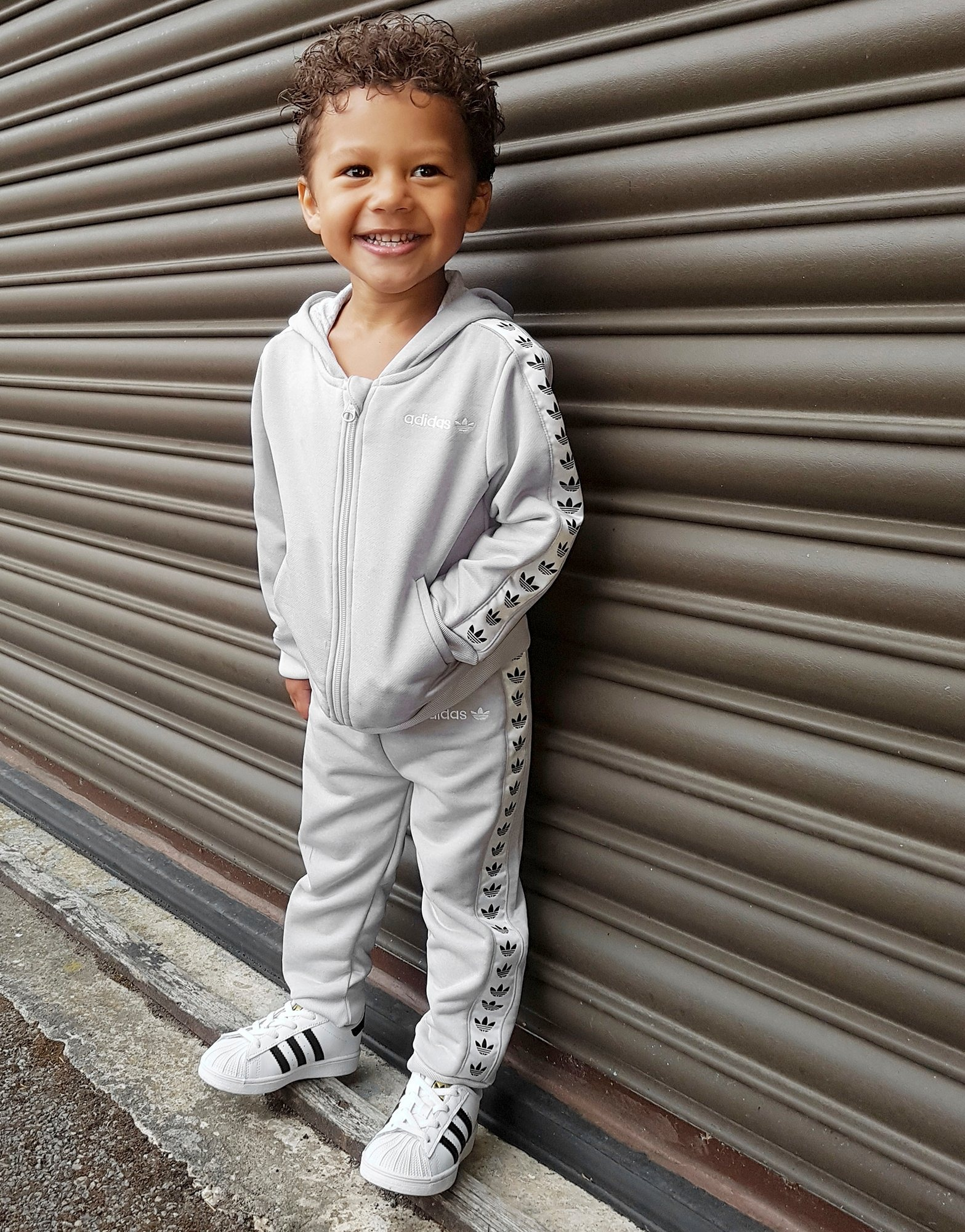 Black Adidas Infants Manchester United Tracksuit
