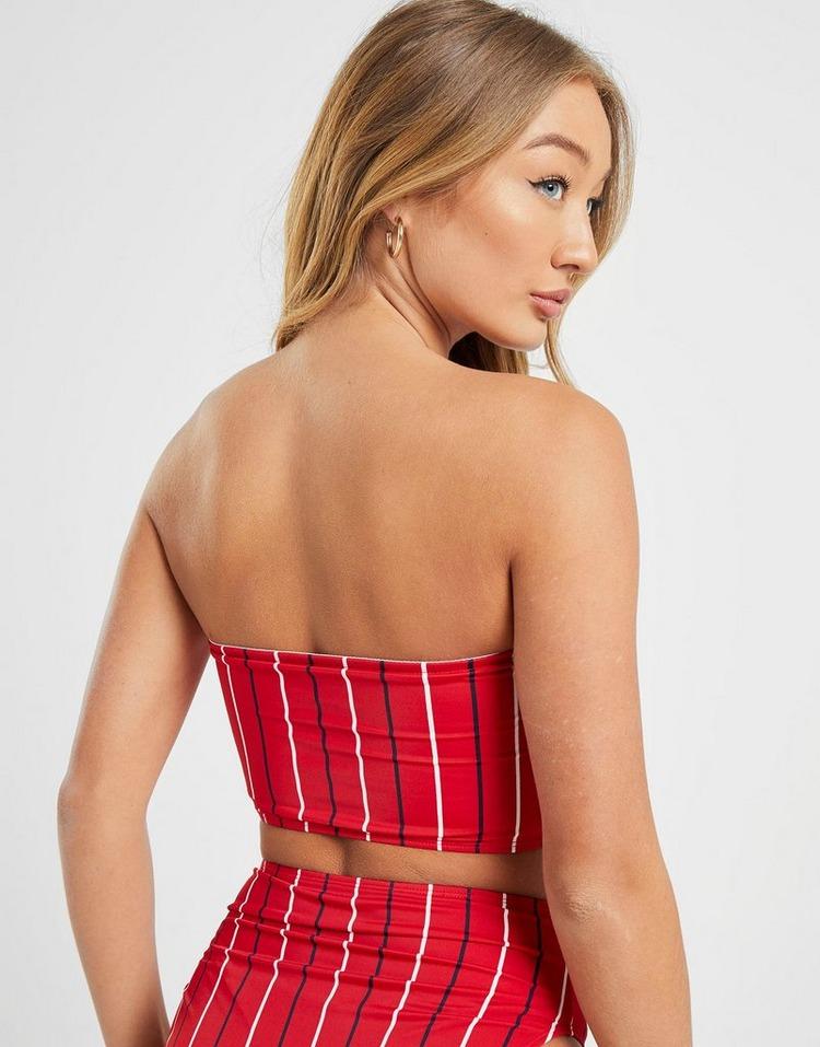 Fila Pinstripe Bandeau Bikini Top