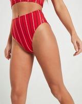 Fila Pinstripe High Waist Bikini Bottoms