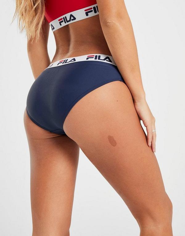 Koop Blauw Fila Tape Bikini Broek Dames