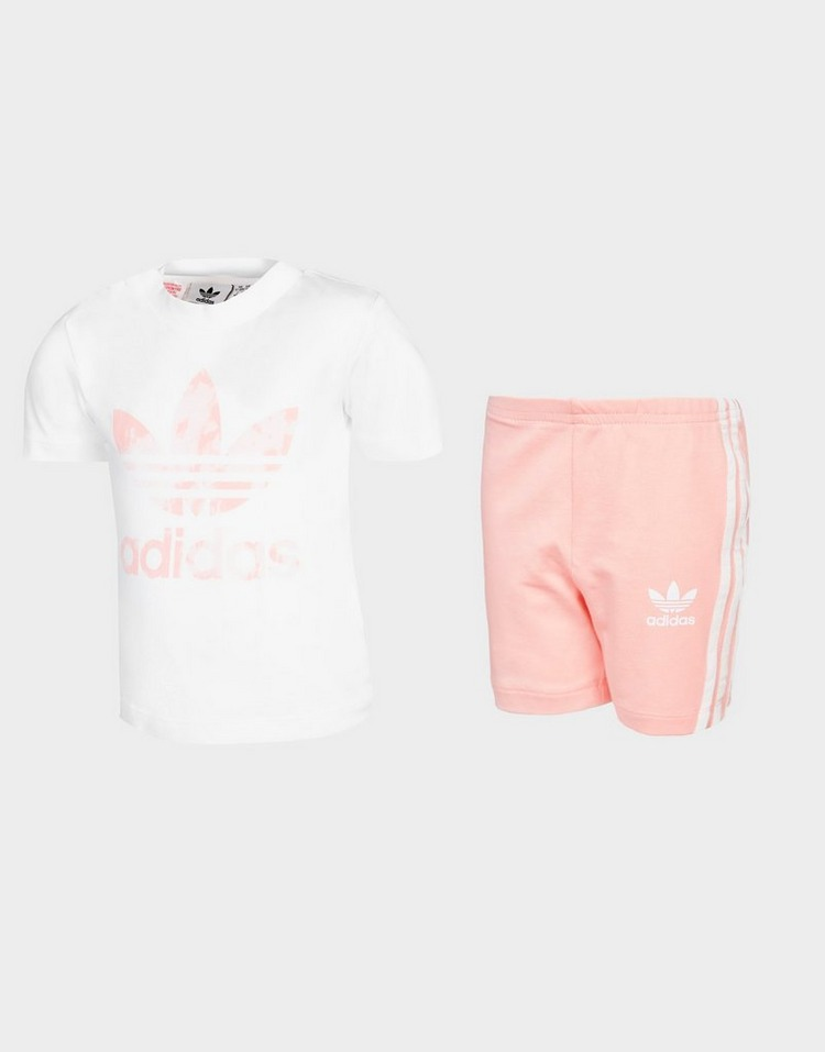 adidas Originals Girls' T-Shirt/Cycle Shorts Set Infant