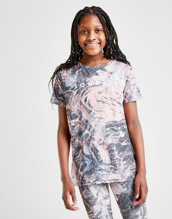 Sonneti Girls' Paradise Marble T-Shirt Junior