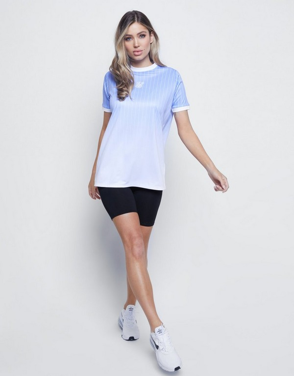 SikSilk camiseta Fade Boyfriend Stripe
