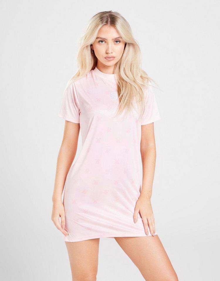 SikSilk All Over Print T-Shirt Dress