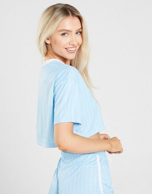 SikSilk Pinstripe Crop T-Shirt