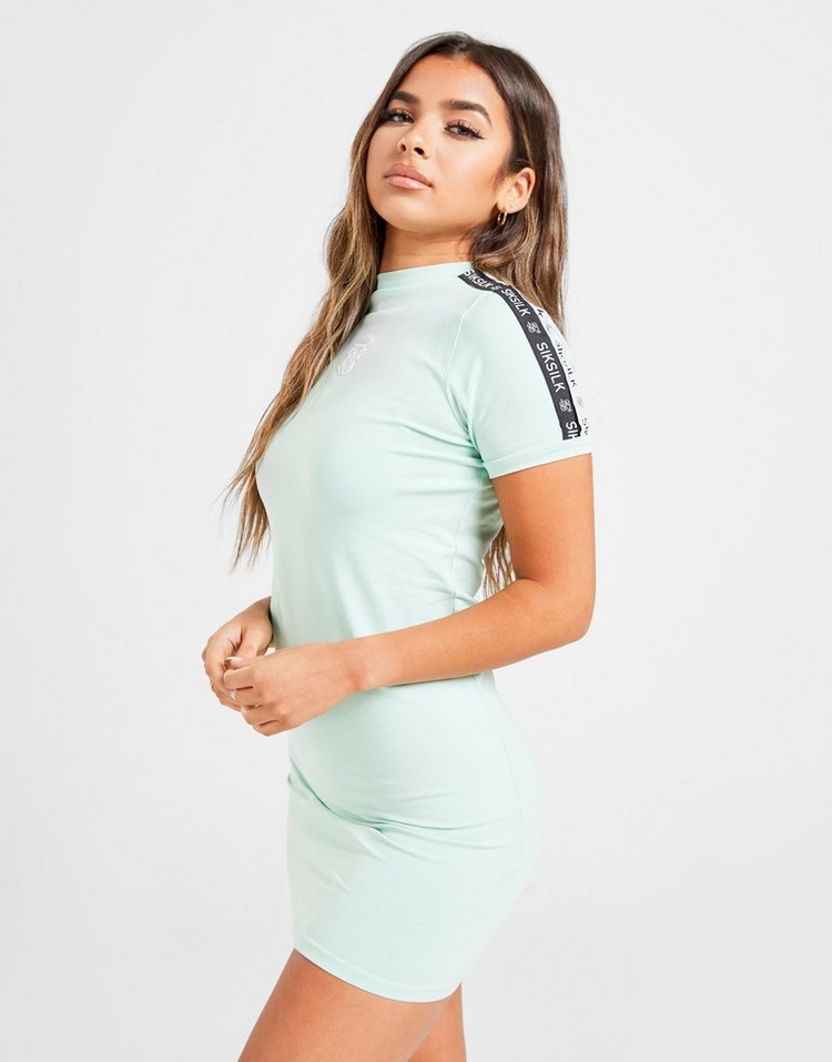 SikSilk High Neck Fitted Dress