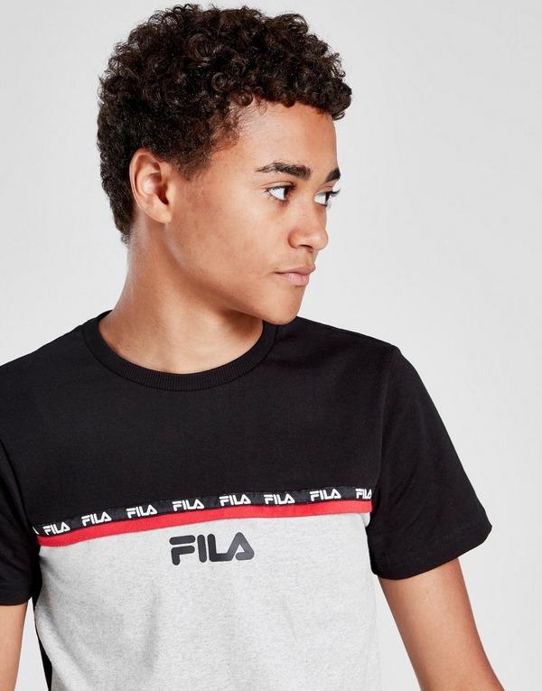 Fila Julian Colour Block Tape T-Shirt Junior