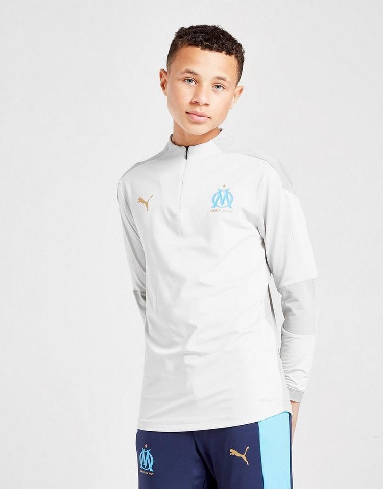 Puma Olympique Marseille 1/4 Zip Training Top Junior