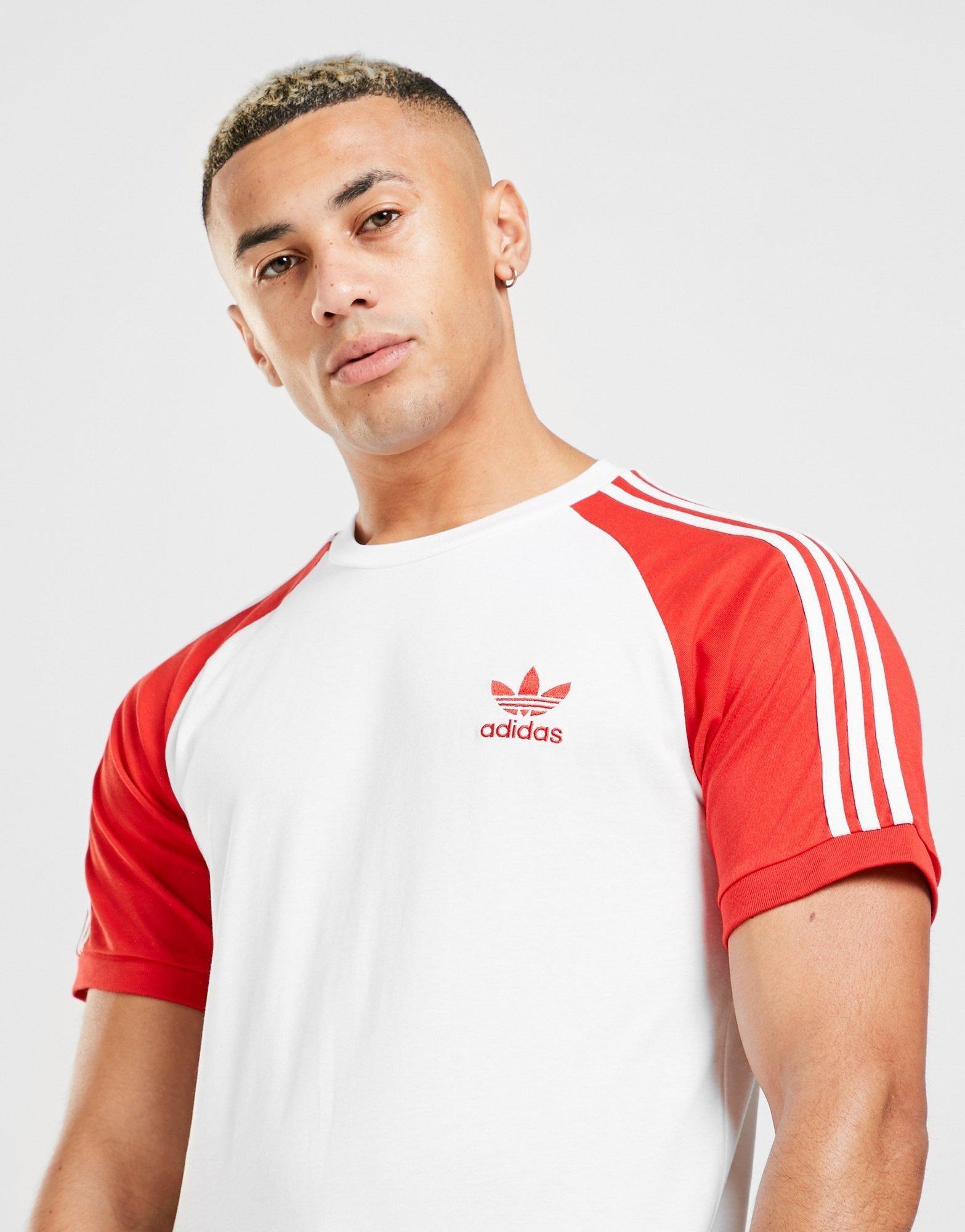 adidas Originals 3 Stripes California T Shirt Heren | JD Sports