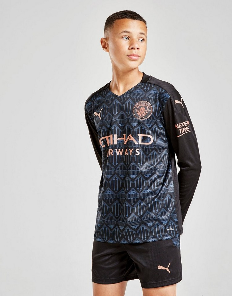 Puma Manchester City 20/21 Long Sleeve Away Shirt Jnr