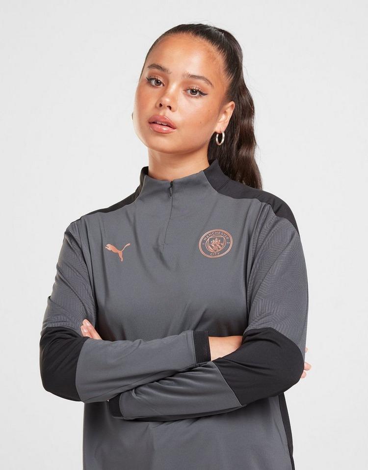Puma Haut d'entraînement Manchester City FC 1/4 Zip Femme