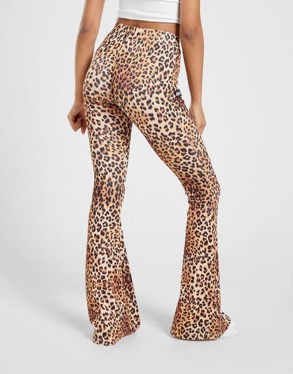 Ellesse Logo Leopard Flare Pants Dames