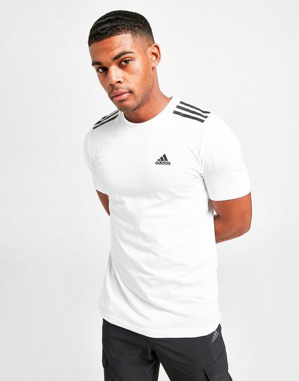 Køb adidas Badge of Sport 3 Stripes T Shirt Herre i Hvid
