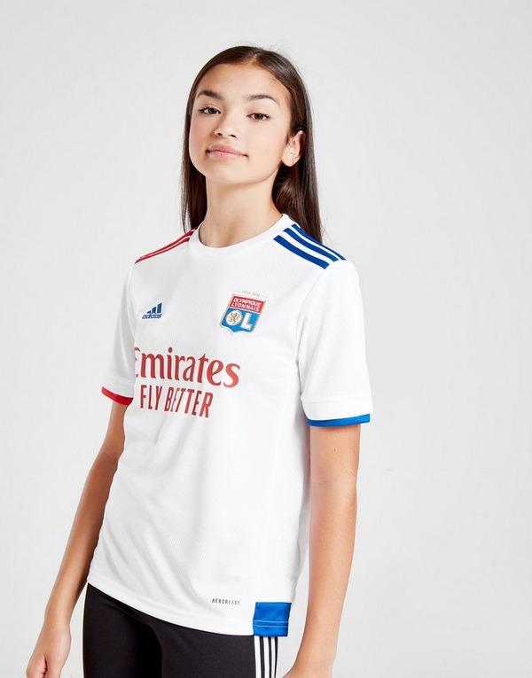 Agua con gas cocinero Avispón  Buy White adidas Olympique Lyon 2020/21 Home Shirt Junior