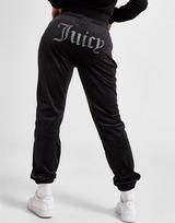 JUICY COUTURE Pantalon de survêtement Diamante Logo Velour Femme