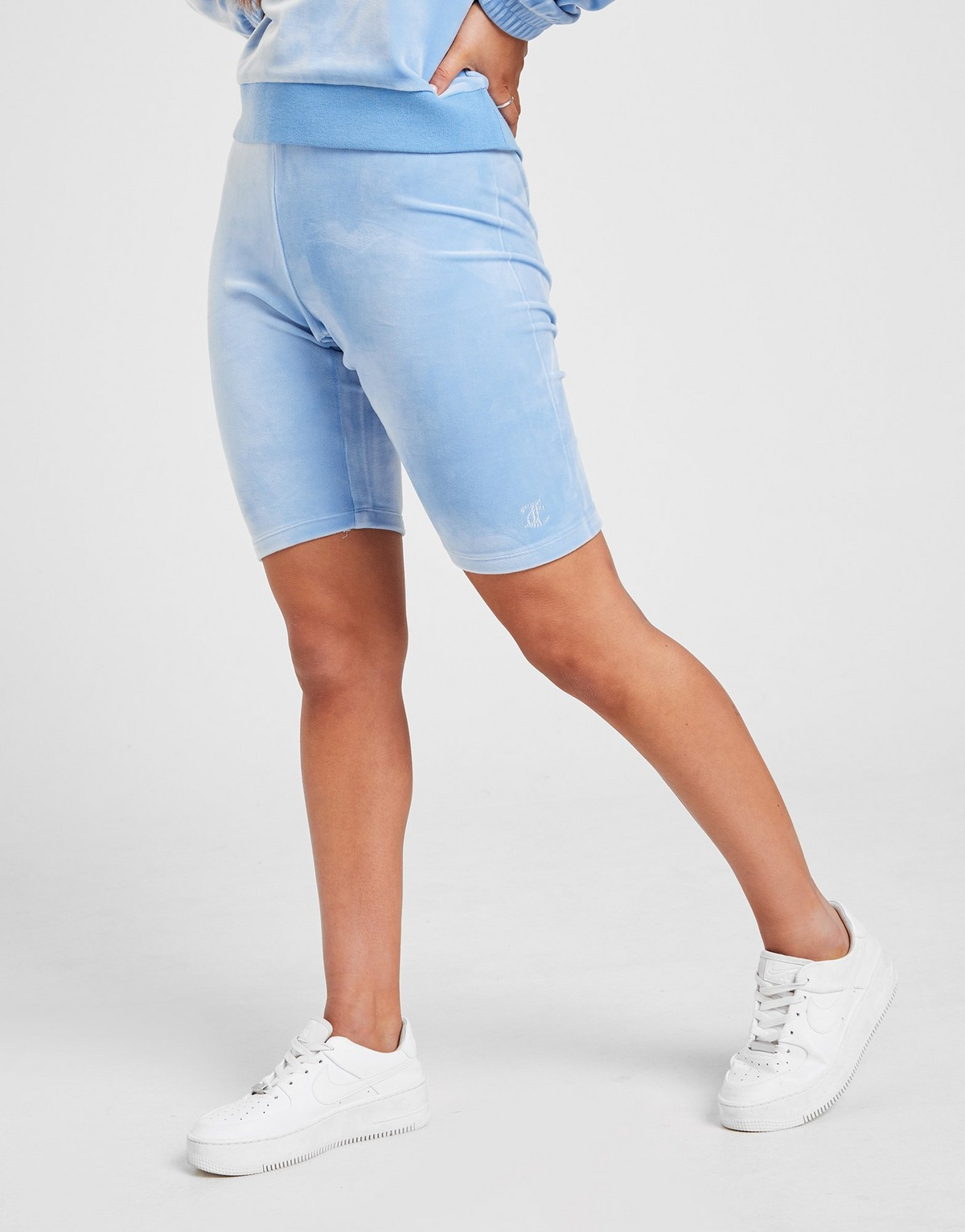 Juicy Couture Diamante Velour Cycle Shorts
