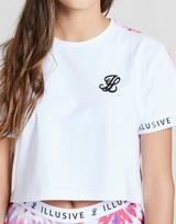 ILLUSIVE LONDON T-shirt Tie Dye Panel Crop Fille