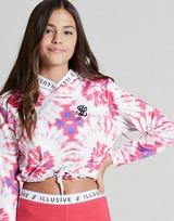 ILLUSIVE LONDON Girls' Tie Dye Crop Ovehead Hoodie Junior