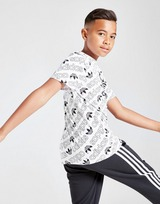 adidas Originals All Over Print Linear T-Shirt Junior