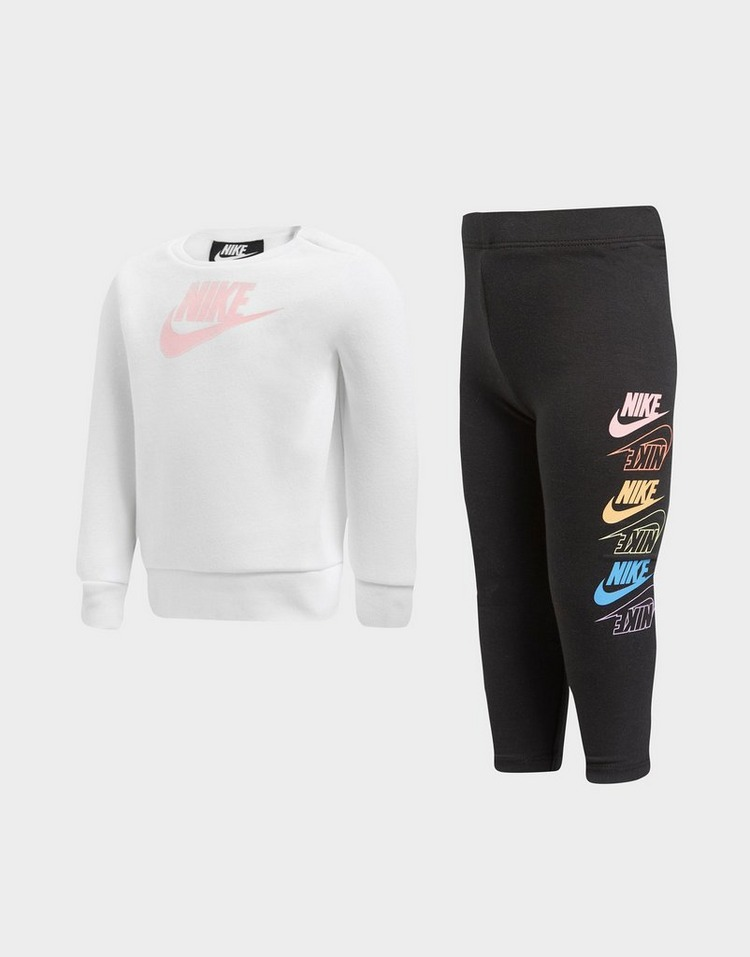 Nike Girls' Crew Sticker Sweatshirt/Leggings Set Infant