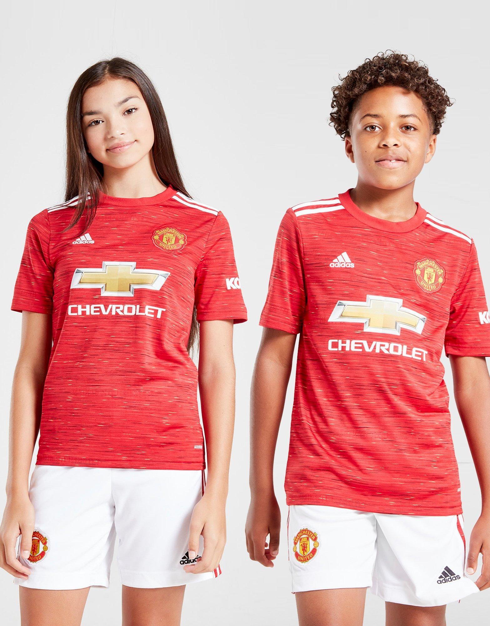 Buy Adidas Manchester United Fc 2020 21 Home Shirt Junior Jd Sports