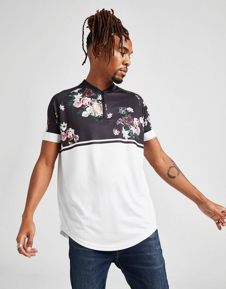 SikSilk Pinstripe Baseball T-Shirt