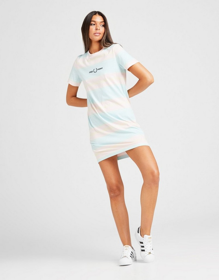 Fred Perry Stripe Embroidered Dress