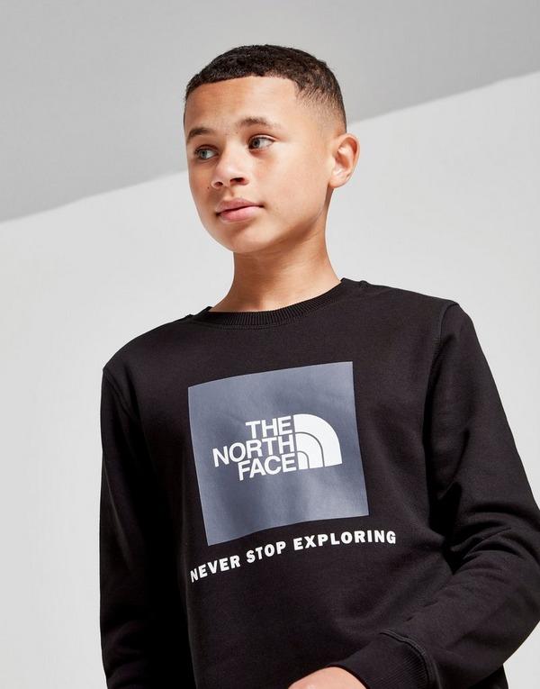 Shoppa The North Face Box Logo Crew Sweatshirt Junior i en