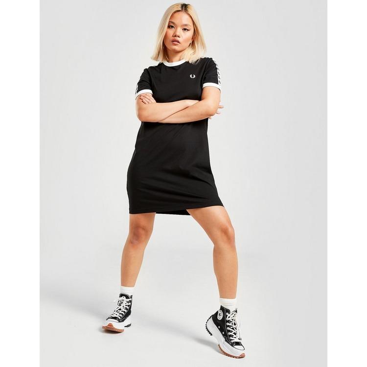 Fred Perry Robe T-shirt Tape ringer Femme