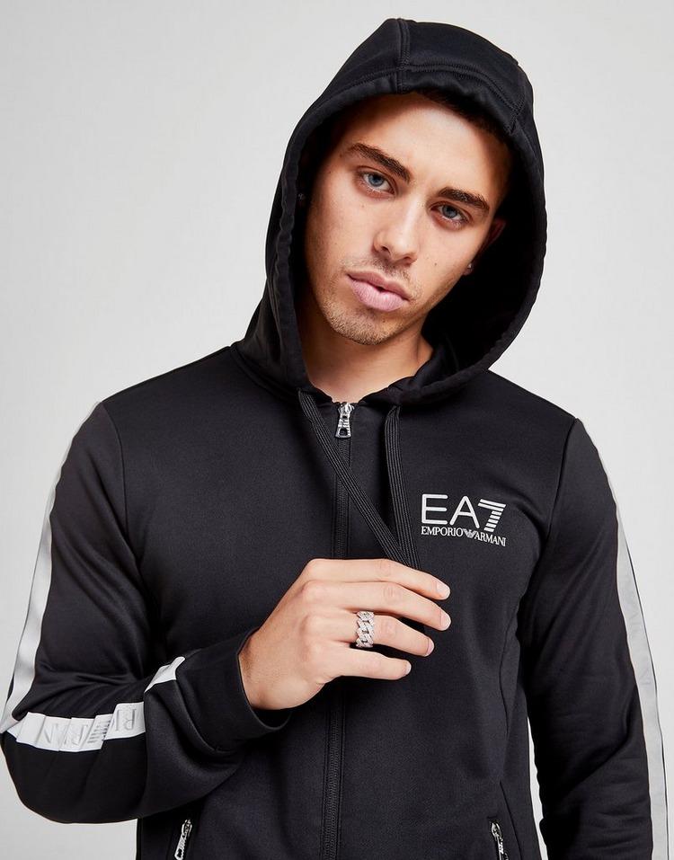 Emporio Armani EA7 Sweat à capuche Evo Reflective Tape Full Zip Homme