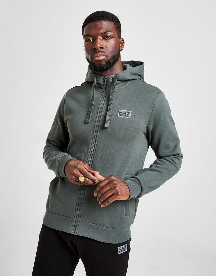 Emporio Armani EA7 Rubber Badge Fleece Hoodie