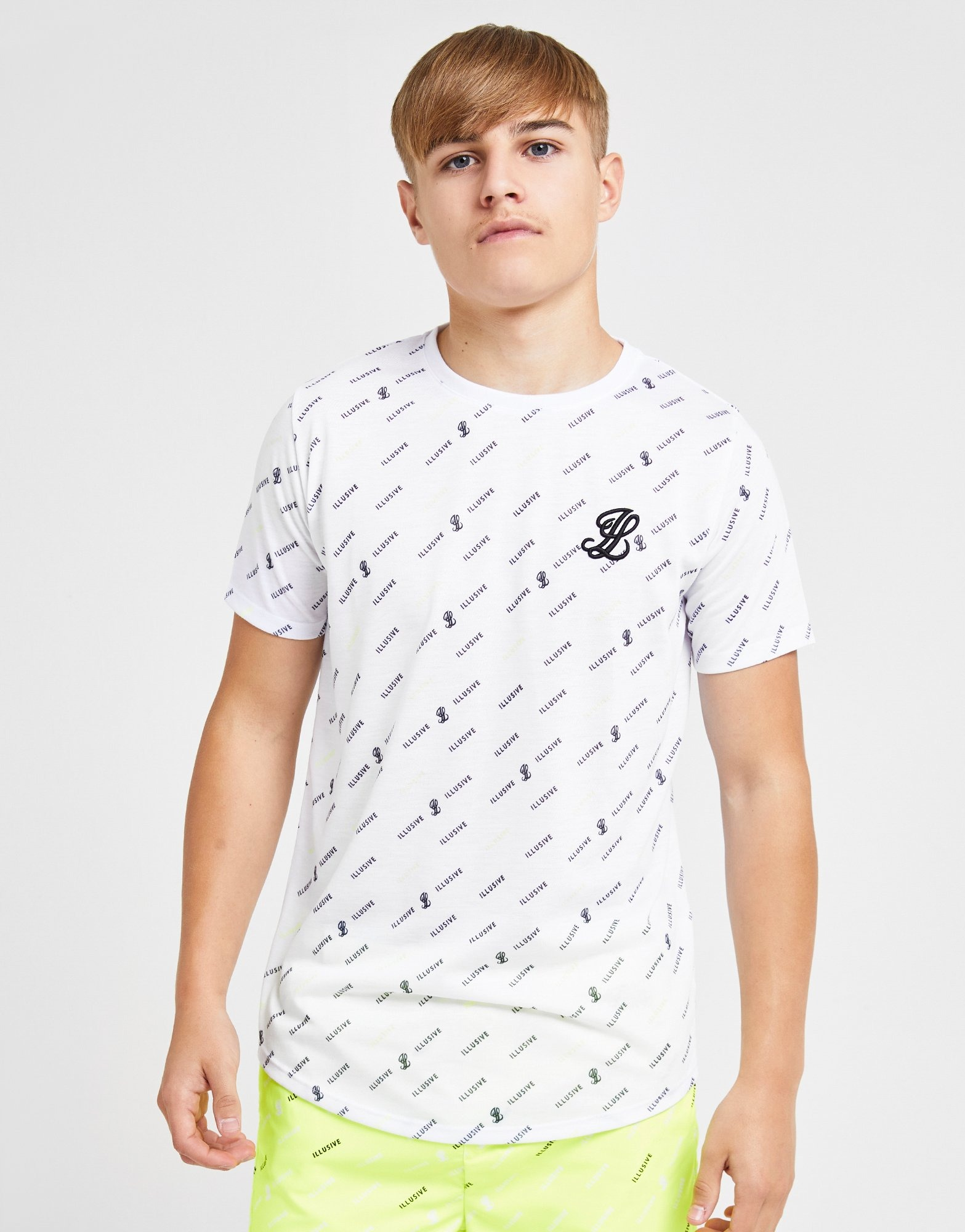 Buy Illusive London All Over Print T Shirt Junior Jd Sports