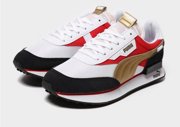 Puma Rider W Wht/red/gld/blk$