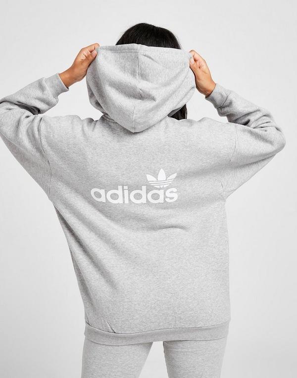 Shoppa adidas Originals Linear Hoodie Dam i en Grå färg