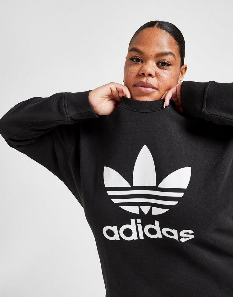 adidas Originals Trefoil Plus Size Crew Sweatshirt