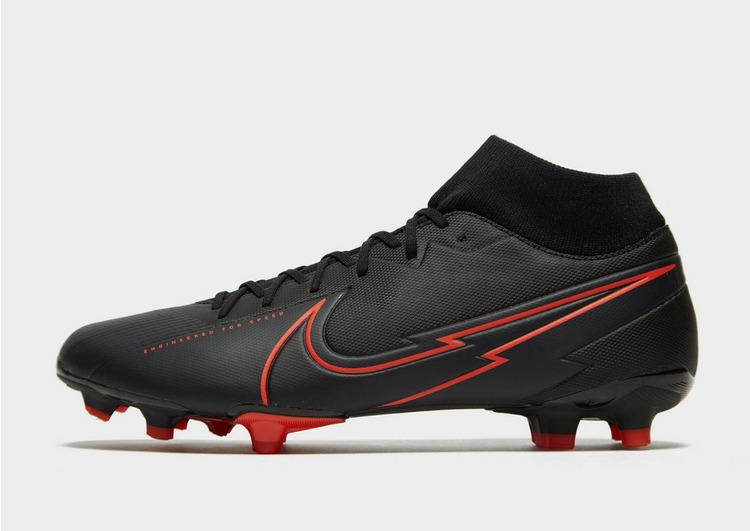 Nike Black/Chile Red Mercurial SuperFly Academy FG