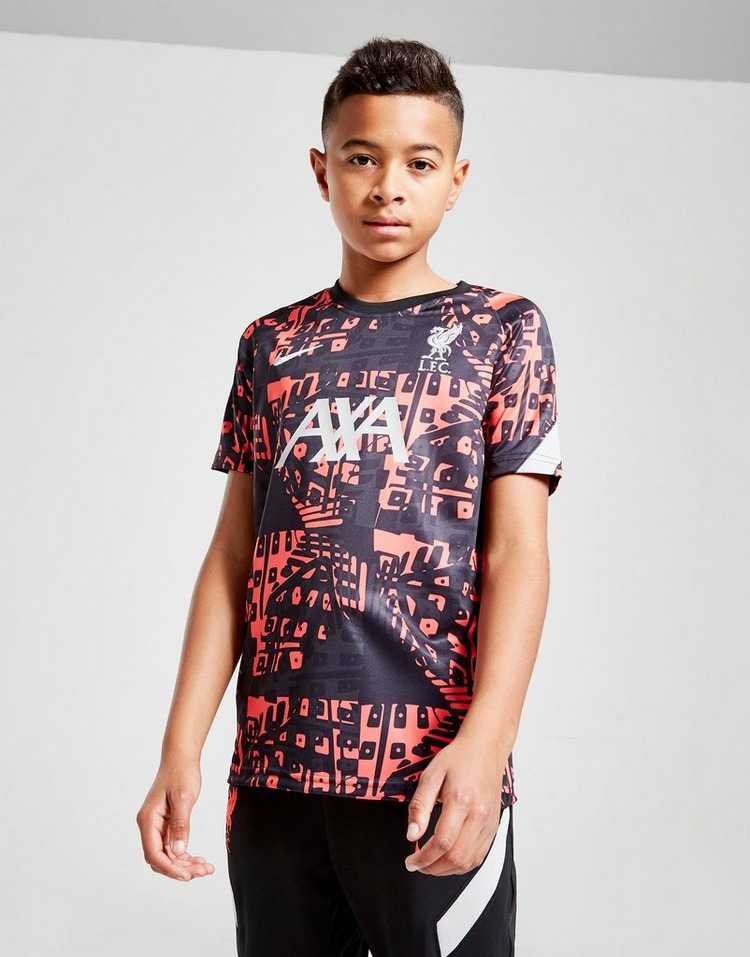 Nike Liverpool FC Pre Match Short Sleeve Shirt Jnr