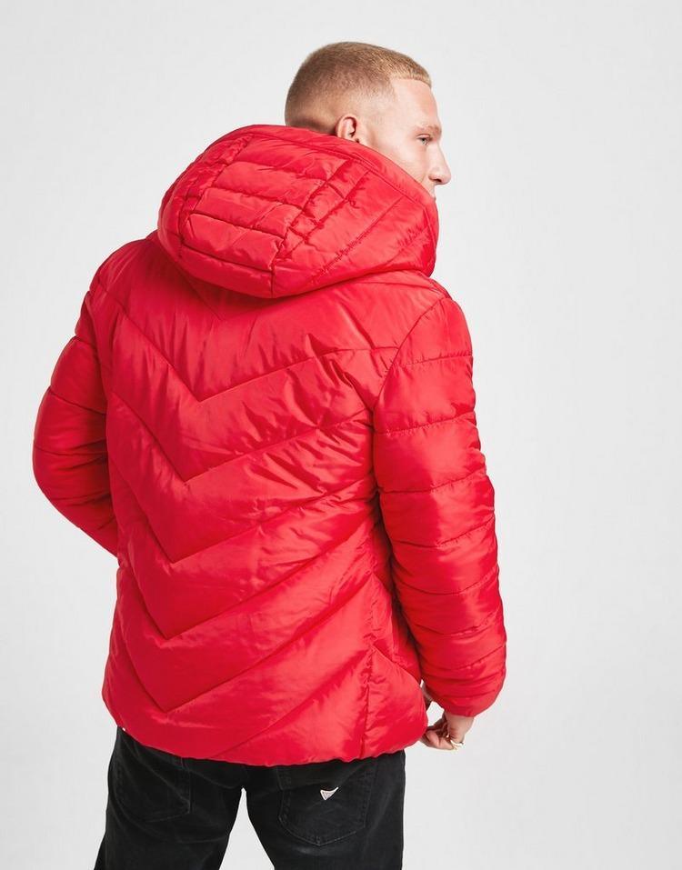 Shoppa Guess Light Vadderad Jacka Herr i en Röd färg