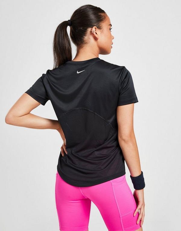 Nike Running Miler Short Sleeve T-Shirt Dames