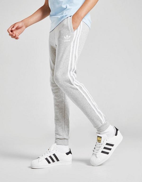 meteorito Respectivamente A rayas  Compra adidas Originals pantalón de chándal 3-Stripes Trefoil júnior en Gris