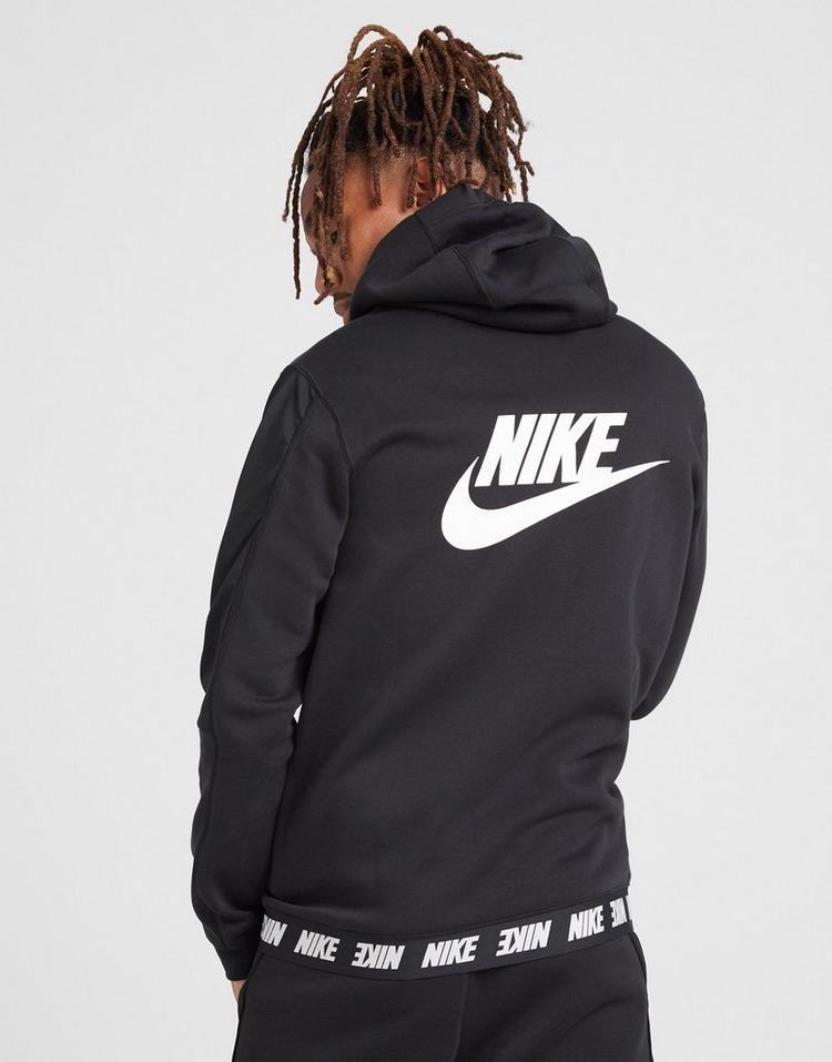 Acheter Black Nike Sweat à capuche en tissu Fleece à zip