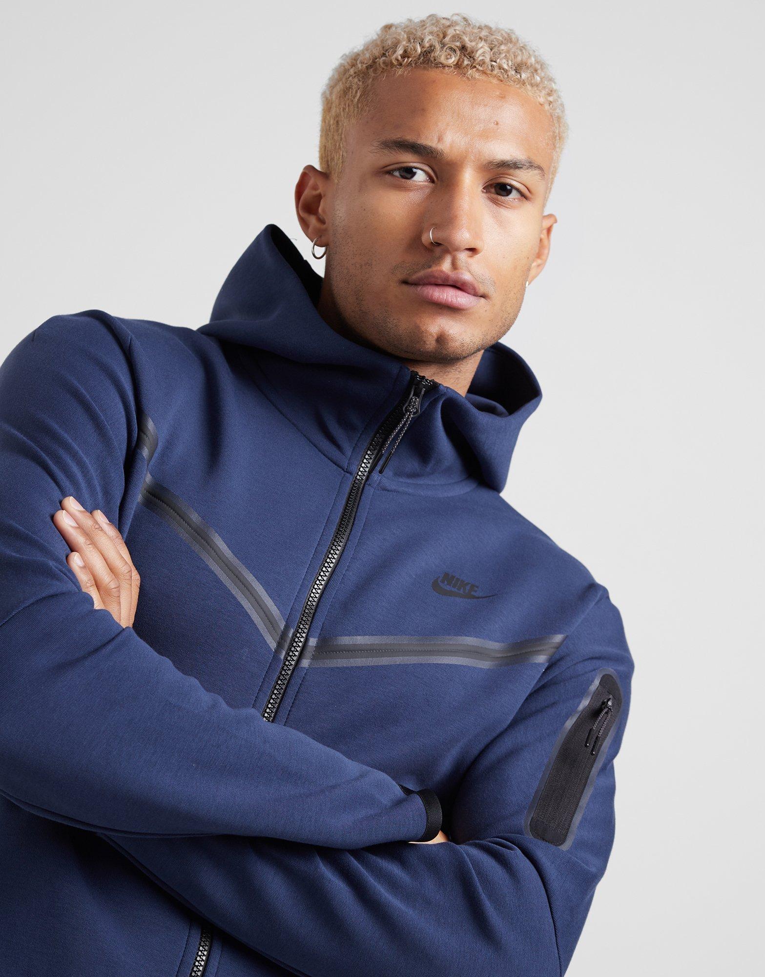 Buy Blue Nike Tech Fleece Windrunner Full Zip Hoodie Jd Sports