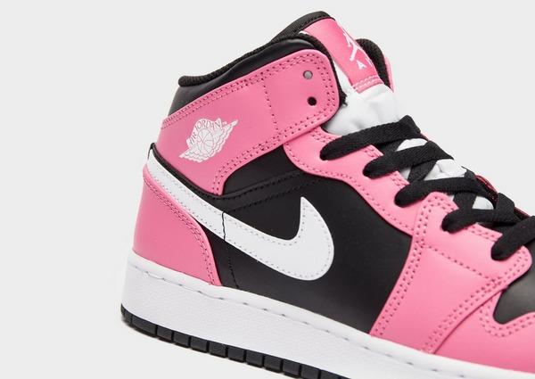 Acheter Black Nike Chaussure Air Jordan 1 Mid pour Enfant
