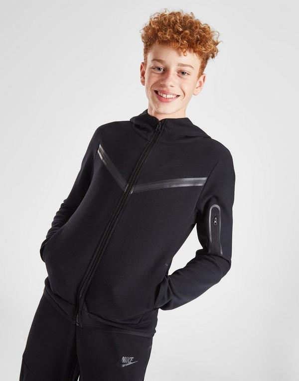 Shoppa Nike Tech Fleece Hoodie Junior i en Svart färg