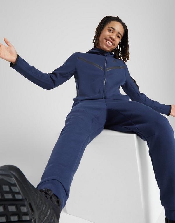 Shoppa Nike Tech Fleece Hoodie Junior i en Blå färg