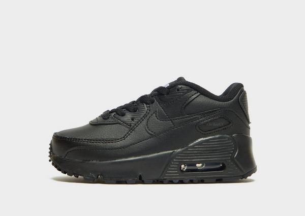Nike Air Max 90 Leather Neonato in Nero | JD Sports
