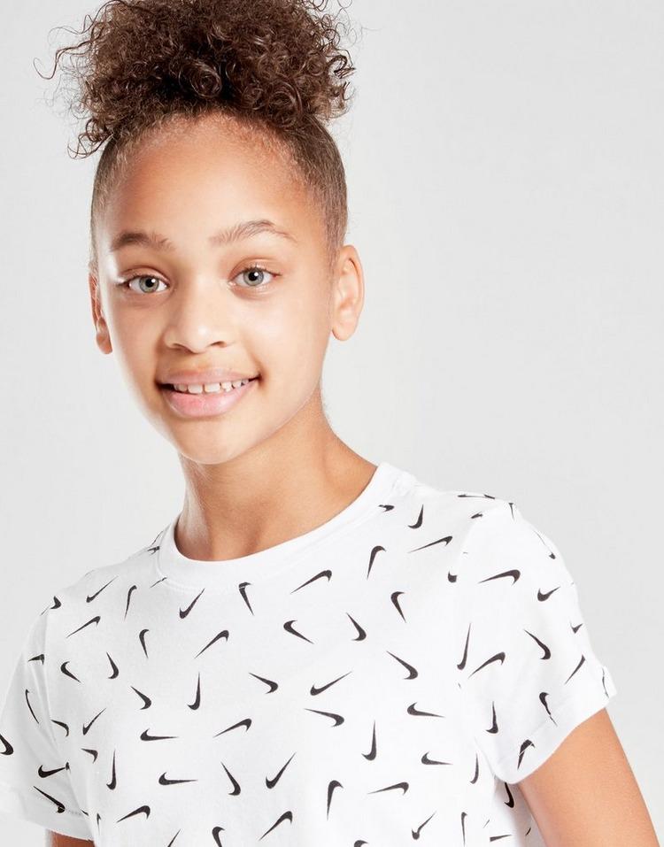 Nike camiseta Crop Swooshfetti júnior