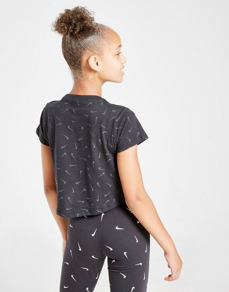 Nike Girls' Swooshfetti Crop T-Shirt Junior