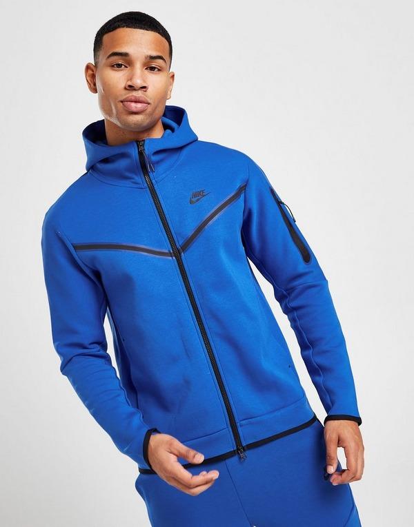 Buy Blue Nike Tech Fleece Full Zip Hoodie Jd Sports