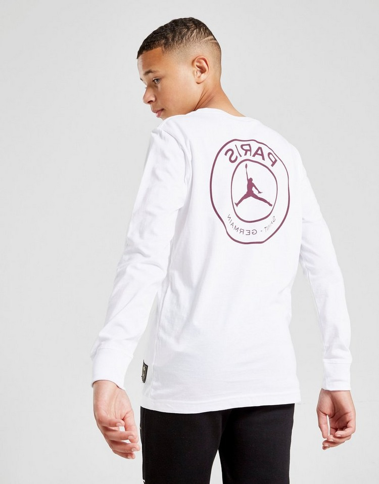 Jordan Paris Saint Germain Logo Long Sleeve T-Shirt Jr
